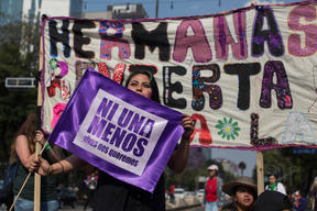 International Women's Day March in Mexico