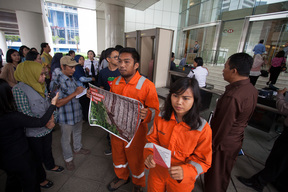 Petition Delivery at HSBC Headquarters in Jakarta
