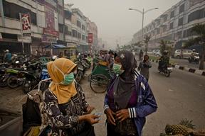 Forest Fires Cause Smog in Dumai City