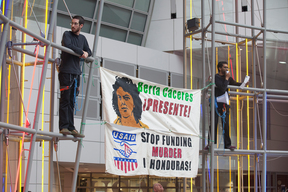 Berta Cáceres Protest at DC WTC