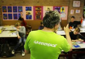 Greenpeace Information for Greenteam at Primary School in Schagen