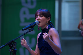 Musician Lala Karmela at Earth Day Event in Jakarta