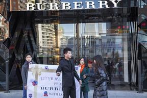 Detox Protest at Burberry Store in Beijing