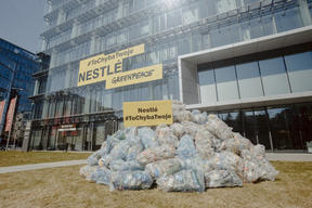 Stop Plastic Action at Nestle HQ in Poland