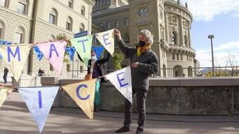 Climate Seniors Action at European Court of Human Rights in Bern, Switzerland - Clipreel