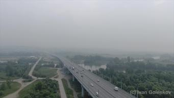Smoke from Siberian Forest Fires in Novosibirsk - Cllipreel