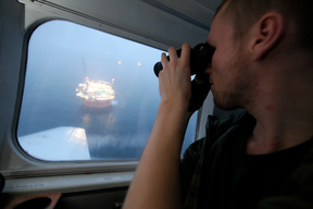 Survey Flight to Goliat in the Barents Sea Norway