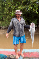Man with Filhote Fish Brazil