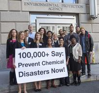 Chemical Security Petition Delivery EPA in Washington