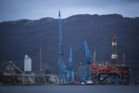 ExxonMobil's West Alpha Oil Rig in Norway