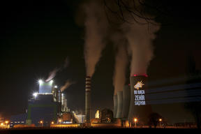 Projection onto Coal Power Plant in Turkey
