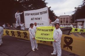 Protest against Nuclear Testing in Switzerland