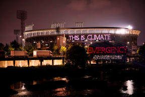 Laser Projection Action in South Korea for Climate Emergency