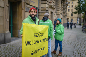 Protest at Transport Conference in Stuttgart