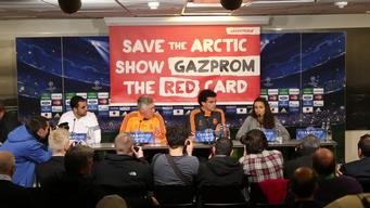 Greenpeace Shows Gazprom the Red Card in Denmark