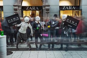 Zara 'Detox' Day of Action in Stockholm