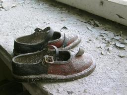 Abandoned Baby Shoes in Pripyat