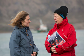 German Environment Minister Visits Arctic Sunrise in Svalbard
