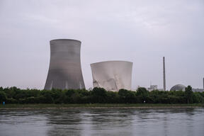 Demolition of the Cooling Towers at NPP Philippsburg