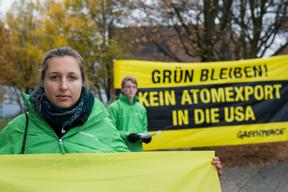 Protest in Germany against Nuclear Waste Export to the US