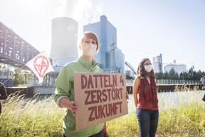 Protest against the Commissioning of  Power Plant Datteln 4 in Germany