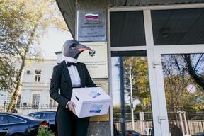 Protect the Antarctic Petition Delivery in Moscow