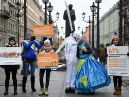 Global Divestment Day in St Petersburg