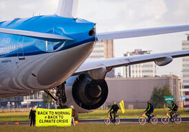 Activists Demand Climate Conditions Bailout at Schiphol, Amsterdam