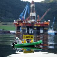 Save the Arctic' LEGO Scene in Norway