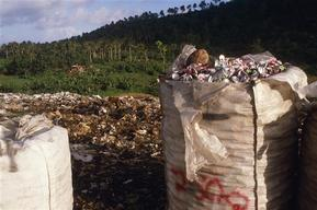 Garbage dump on American Samoa.