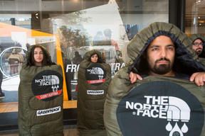 Detox Protest at The North Face Store in Chile