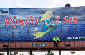 Chicken of the Sea Protest Billboard in California