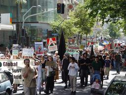 Action against War in Iraq in New Zealand