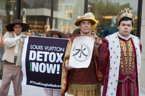 Detox Action at Louis Vuitton Shop in Mexico City