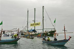 Locals Welcome Greenpeace