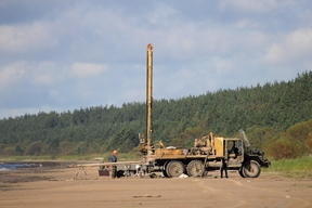 Drilling Rig in the Narva Bay Protected Area in Russia