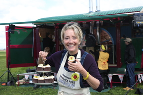 Actor Emma Thompson during the Frack Free Bake Off in Lancashire, UK