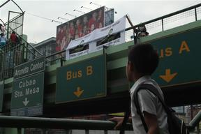 Green Electoral Initiatives Banner Unfurling in the Philippines