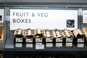 Cardboard Boxes of Fruit and Vegetables