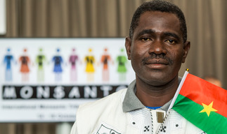 Ali Tapobusa at the Monsanto Tribunal in The Hague