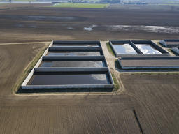 Manure's Basins in the Po Valley, Italy
