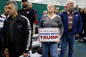 Trump Supporters at Campaign Rally in the US
