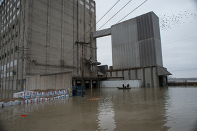 A Flood Defense Wall in Illinois