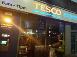Volunteers Rebrand Tesco's Shop Windows in Southampton, UK