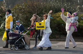 Women's Anti-Fracking March in Lancashire