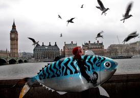 Greenpeace Joins Hugh's Fish Fight March