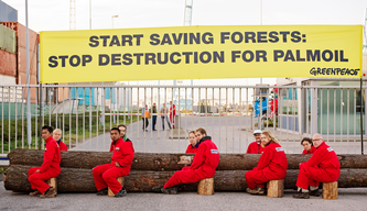 IOI Palm Oil Company Blockade in Rotterdam Harbour