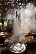 Family Cooking in Congo