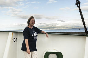Professor Gretchen Früh-Green in the Azores