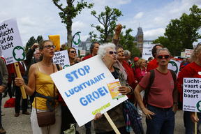 Protest against Growth of Aviation in Amsterdam